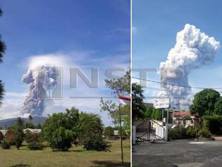 Gunung Berapi Soputan Di Sulawesi Meletus