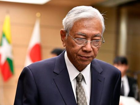 PRESIDEN Myanmar, Htin Kyaw Letak Jawatan