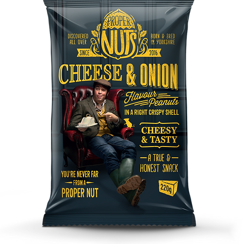 Proper Nuts Cheese & Onion - 200g