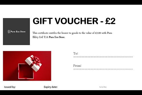 Pura Eco Store Gift Voucher - £2