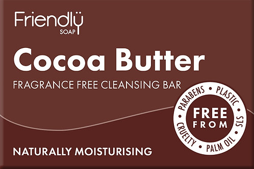 Friendly Soap Fragrance Free Cleansing Bar Cocoa Butter 95g