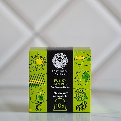 Lost Sheep compostable coffee capsules -Funky Camper x 10