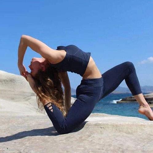 Yummy Yoga Girl Clothing 7/8 Blue Leggings