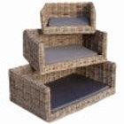 Luxury Rattan Dog Sofa Bed - Large