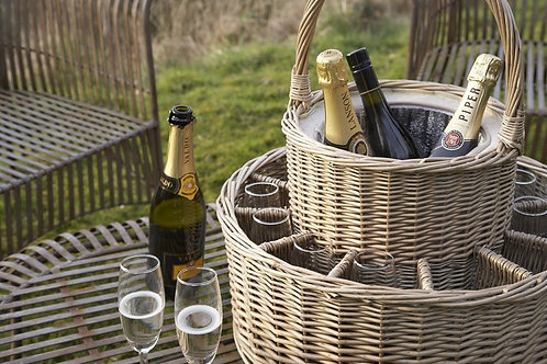 Chilled Garden Party Drinks  Basket Set - No alcohol included