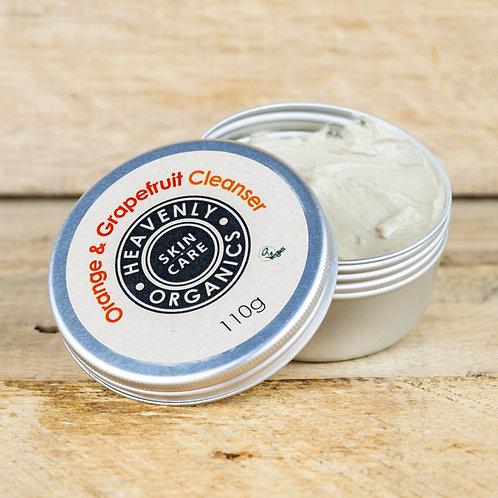 Heavenly Organics Clay Facial Cleanser - Orange & Grapefruit 110g & 110g