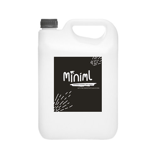 Miniml Bodywash + Bubble Bath - Pink Grapefruit + Aloe Vera 1 Litre