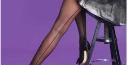 Scarlet brand sheer tights with a back seam and shaped heel