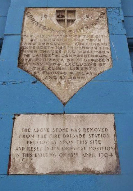Plaque marking the southern limit of the City of London