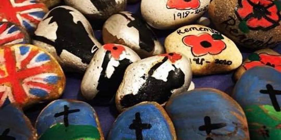Rocks: Remembrance Poppies