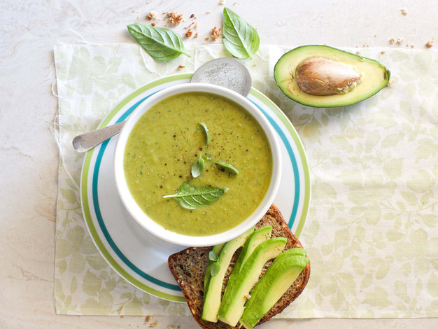 Lettuce & Pea Soup