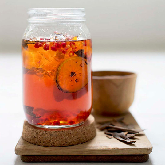 Perfect for diabetics - Rooibos, Pomegranate and Cinnamon Iced Tea