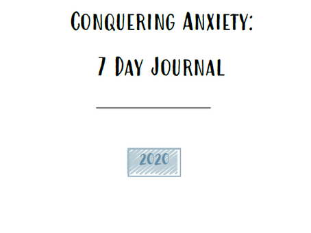 FREE PRINTABLE: Conquering Anxiety Journal