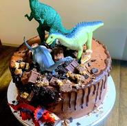 Custom Dinosaur Cake