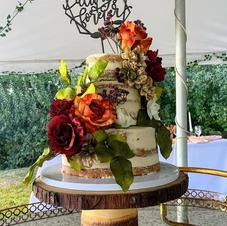 Fall Wedding Cake - 3 tiered