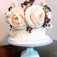 Mini Wedding Cake with textured frosting