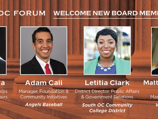 Welcome Our New Board Members