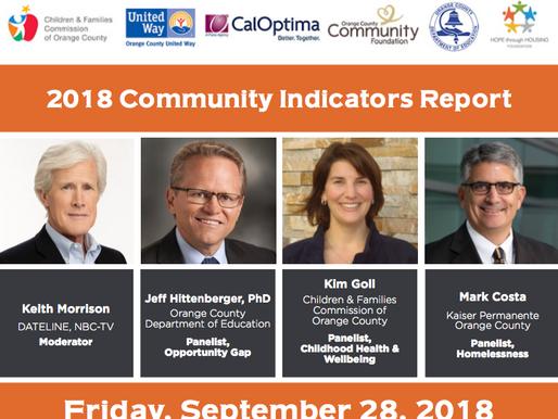 Event Announcement: 2018 Community Indicators Report