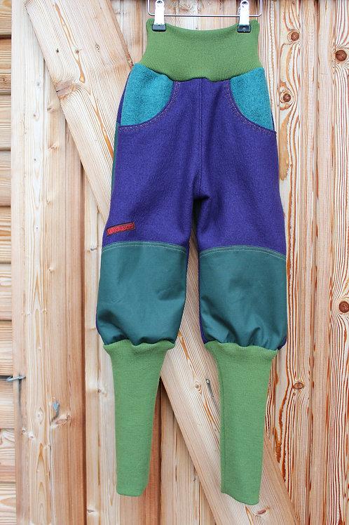 Knickerbocker aus Wollwalk Purple kbt, mulesingfrei