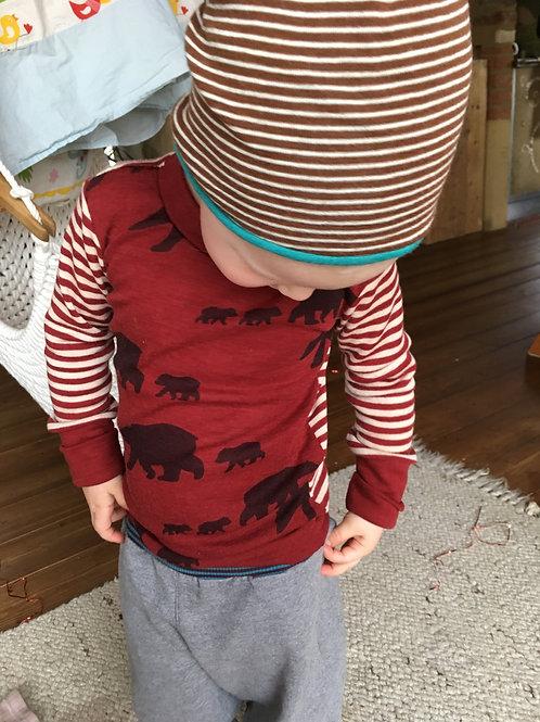 Wolle Seide Shirt Bärenwanderung kbT, mulesingfrei