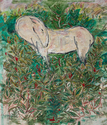 Horse in Garden