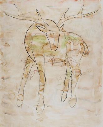 Deer with Leaves