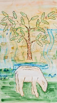 Lamb with Tree