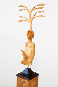 Woman with Dove and Branch