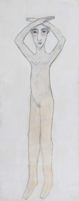 Woman with Arms Over Head