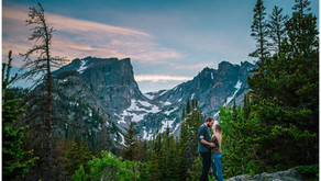 Rocky Mountain National Park Dream Lake Engagement Photos