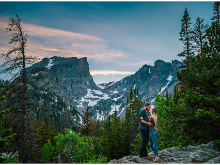 Rocky Mountain National Park Dream Lake Engagement Photos