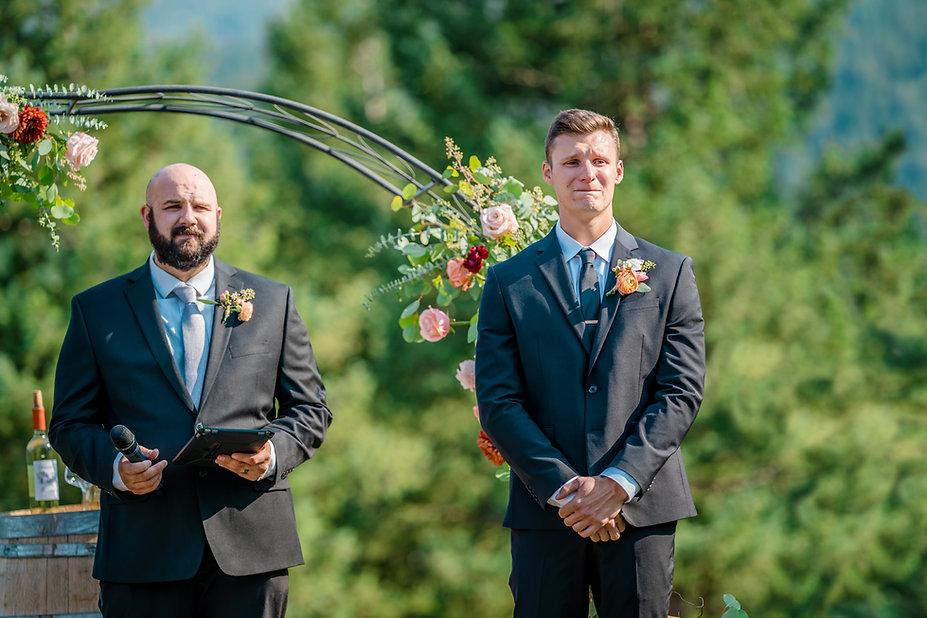 colorado wedding photographer first look