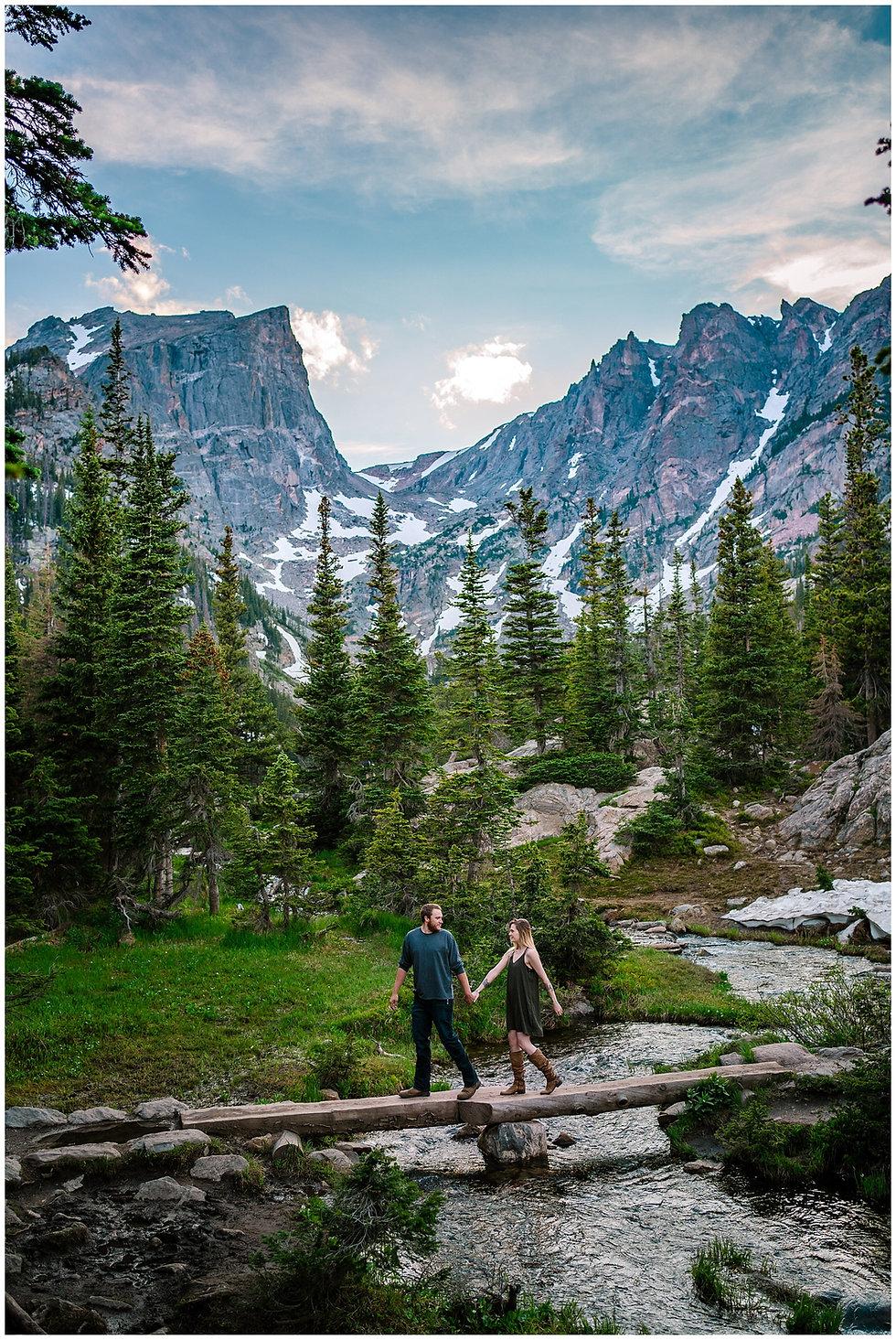 Rocky Mountain National Park Engagement Photos Dream Lake Engagement Photos Cassandra Vagh