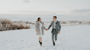 Winter Standley Lake Elopement - Westminster, Colorado
