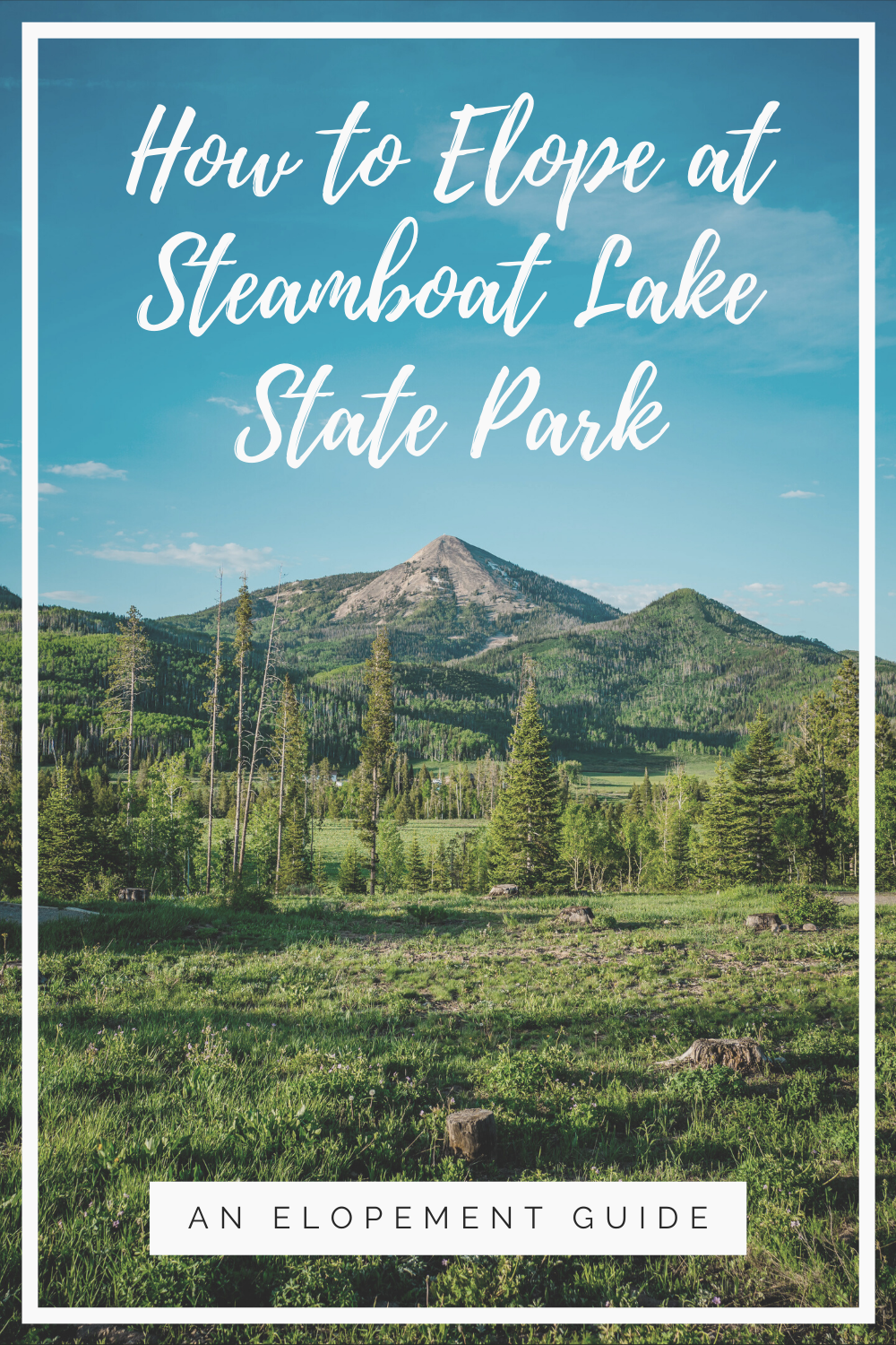 Are you planning an elopement? Congrats! We've brainstormed all the best places to elope. Check out Steamboat Lake State Park for your adventure elopement in Colorado. This is one of our favorite elopement destinations because of the perfect views and the fun recreation.