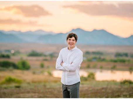 Noah's Standley Lake Senior Photos in Arvada, Colorado
