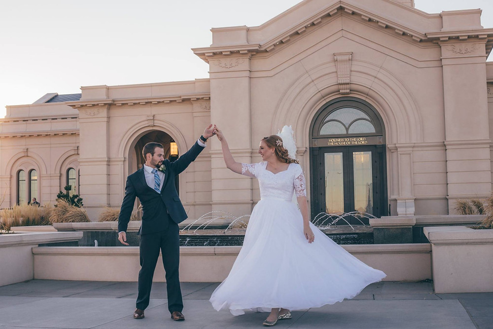 Mormon Wedding at the LDS Fort Collins Temple