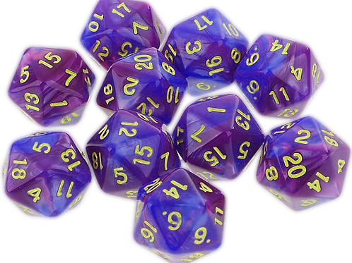 Dé à 20 faces violet