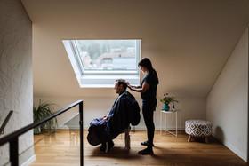 Coiffeur, Coiffeuse, at home, zu Hause, Solothurn, Sabrina Burri, Visagistin