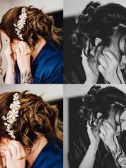 Langhaar Hochsteckfrisur für Braut mit Haarteil und Haarschmuck