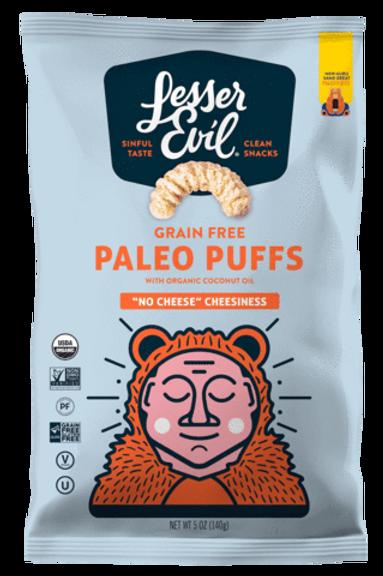 Lesser Evil Paleo Puffs Cheesiness