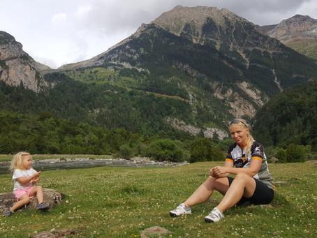 První cyklovýlet v Pyrenejích - cca 20 km