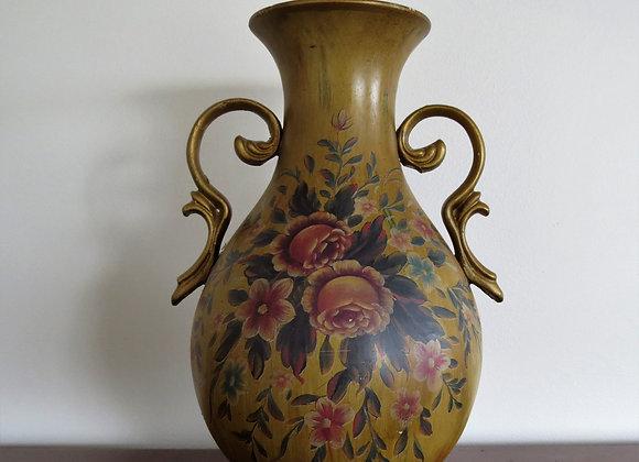 Metal Painted Vase