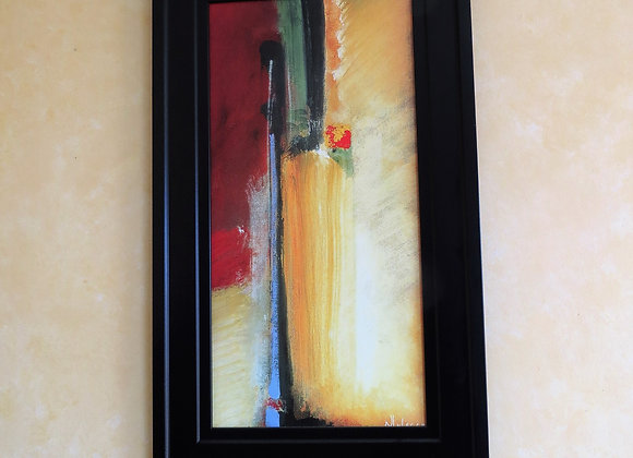 Rectangular gold and red picture