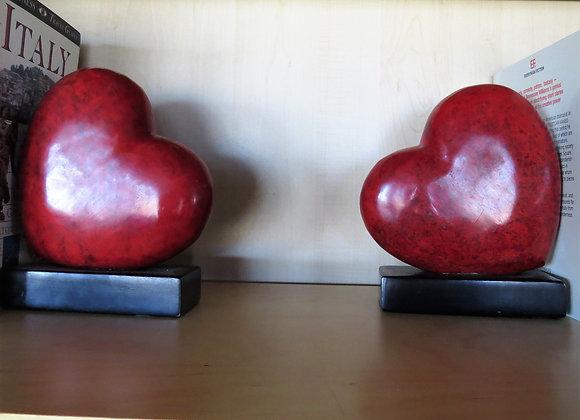Heart bookends (pr)