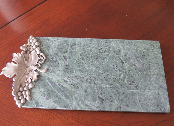 Marble cheese board with metal embellishment