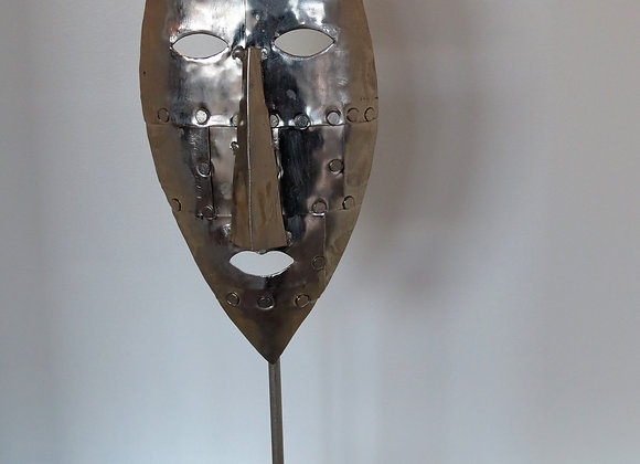 Silver Mask on stand