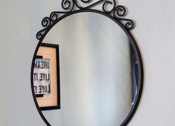 Round Wrought Iron Mirror (Ikea)