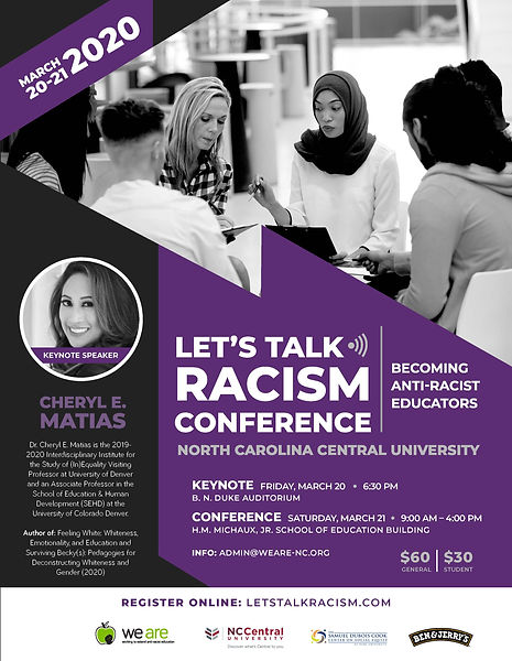 Let's Talk Racism Conference Flyer 2020.