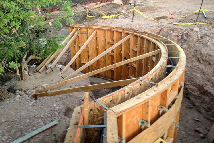 Low Relief Retaining Wall
